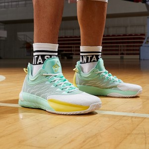 Anta x Gordon Hayward GH1 ALPHA Next Low Basketball Sneakers - White/Green