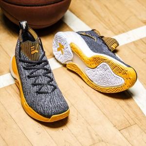 Anta Klay Thompson KT4 Men's Basketball Shoes - Grey/Orange [1841101-4]