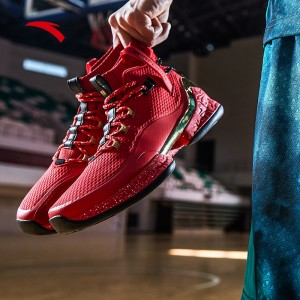 "Anta 2019 UFO 2 Men's High Tops Basketball Shoes - ""Alien"" in Red"