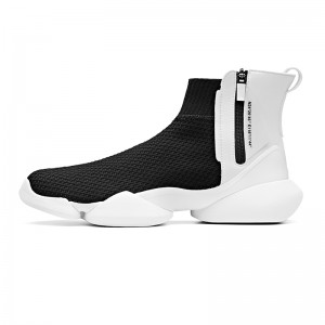 "Anta 2019 Spring New Men's UFO ""Creation"" Sock-like Fashion Basketball Causal Shoes - Black/White"