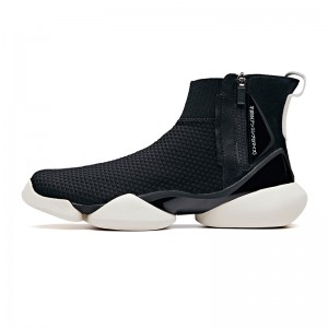 "Anta 2019 Spring New Men's UFO ""Creation"" Sock-like Fashion Basketball Causal Shoes - Black"