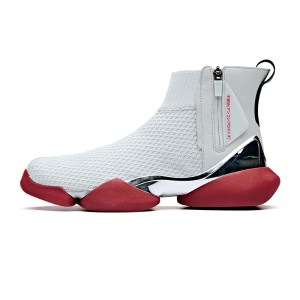 "Anta 2019 Spring New Men's UFO ""Creation"" Sock-like Fashion Basketball Causal Shoes - White/Red/Silver"