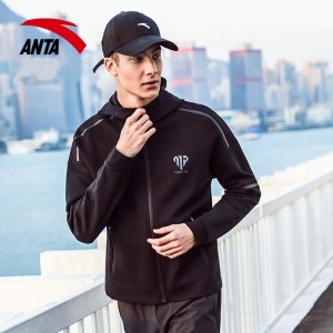 Anta x Manny Pacquiao 2018 Fall New Men's Boxing Training Hoodie | Manny Pacquiao Jacket in black