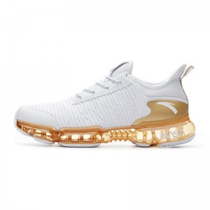 "2018 Anta x NASA SEEED Series ""Zero Bound"" Men's Sports Fashion Sneakers - White/Gold"
