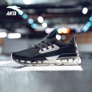 Anta X NASA INSIGHT Air Cushion Running Shoes - Black/White | Anta SEEED Running Sneakers