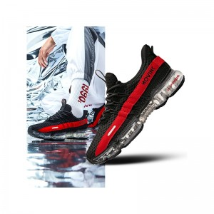 Anta SEEED 2019 Spring New Air Cushion Men's Running Shoes Anta Fashion Sneakers - Black/Red