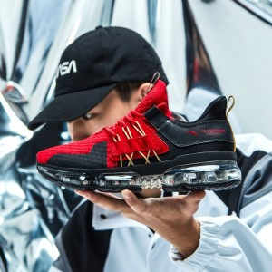2019 Spring New Anta X NASA SEEED BLACK HOLE 黑洞 Men's Air Cushion Running Shoes - Red/Gold/Black