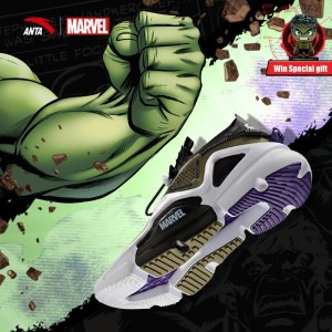 "2019 Summer Anta x Avengers 4 Marvel ""HULK"" Men's Fashion Casual Sneakers"