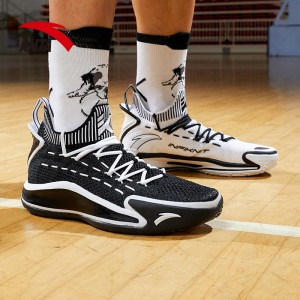 2020 Anta KT5 Klay Thompson Low Basketball Sneakers - Black/White