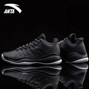 Anta 2018 Men's A-SHOCK Stablizer Low Basketball Shoes - Black