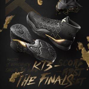 "Anta KT3 Klay Thompson 2018 NBA Playoffs Final ""The Chase Away"" - Black/Gold"