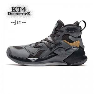 """Anta Klay Thompson KT4 """"Disruptive"""" Men's High Tops Basketball Shoes - Grey"""