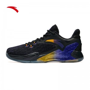 2019 Summer Anta Rajon Rondo RR5 NBA Basketball Shoes - Black/Purple/Yellow
