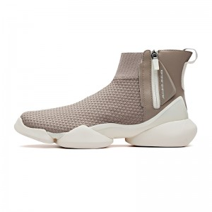 "Anta 2019 Spring New Men's UFO ""Creation"" Sock-like Fashion Basketball Causal Shoes - Grey/White"