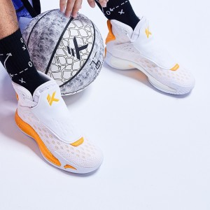 "Anta KT5 Klay Thompson ""Home"" Basketball Shoes - White/Orange"