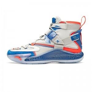 "Anta KT5 Klay Thompson ""Disruptive"" NASA Men's Basketball Sneakers - Silver/Blue/Red"