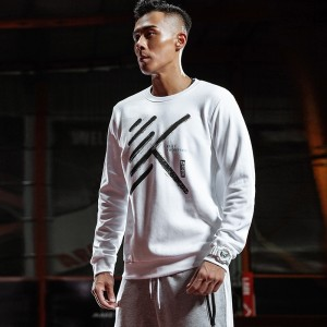 Anta 2018 Winter New KT Klay Thompson SHOCK THE GAME Basketball Culture Pullover - White
