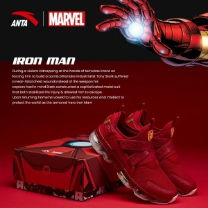 "Anta X Marvel ""IRON MAN"" Running Shoes Anta SEEED Running Sneakers"