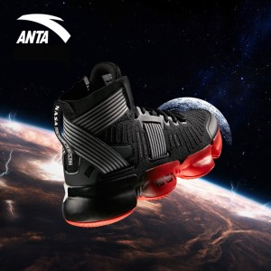 Anta x NASA Seeed Series Men's Professional High Top Basketball Shoes - Black/Red