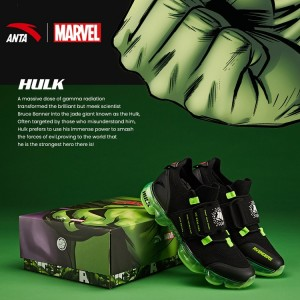 "Anta X Marvel ""HULK"" Running Shoes Anta SEEED Running Sneakers"