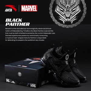 "Anta X Marvel ""BLACK PANTHER"" Running Shoes Anta SEEED Running Sneakers"