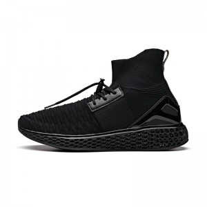 Anta 2018 Winter Wormhole Men's Sock-Like Running Shoes - Black