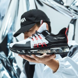 2019 Spring New Anta X NASA SEEED BLACK HOLE 黑洞 Men's Air Cushion Running Shoes - White/Red/Black