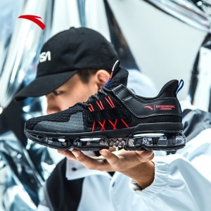 2019 Spring New Anta X NASA SEEED BLACK HOLE 黑洞 Men's Air Cushion Running Shoes - Black/Red