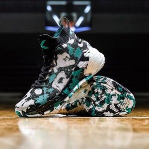 Anta Klay Thompson KT4 Limited Camouflage Edition Men's Basketball Shoes - Black/Green